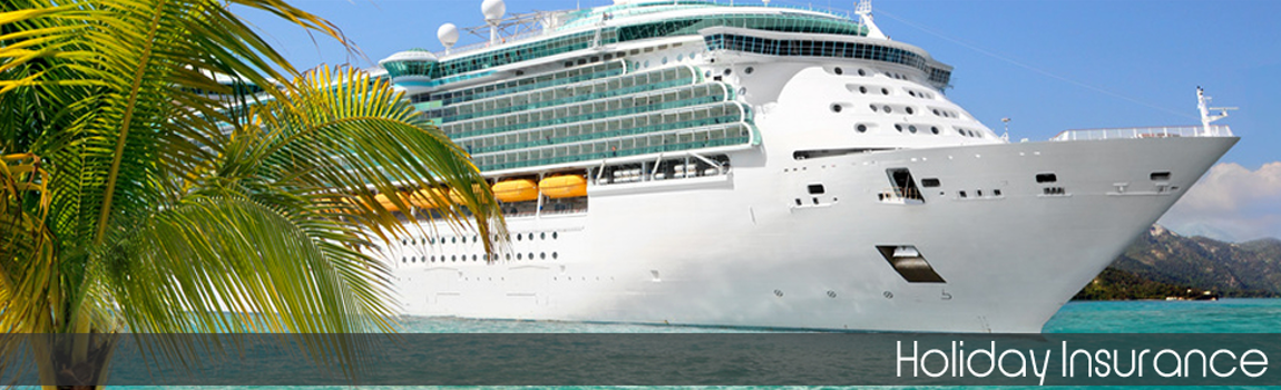 Personal Travel Insurance - A cruise ship passing a tropical island