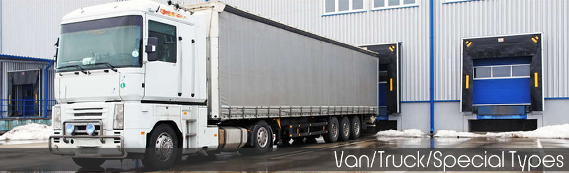 Vans, Trucks and Special Types insurance - A white lorry parked in a loading bay
