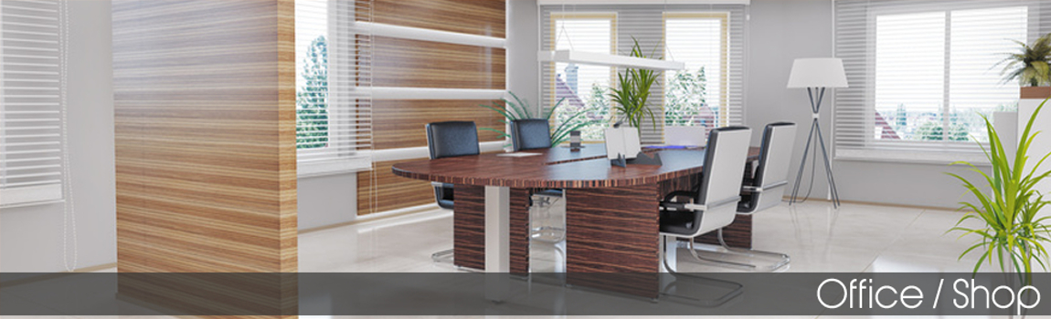 Office and shop insurance - A light board room open plan