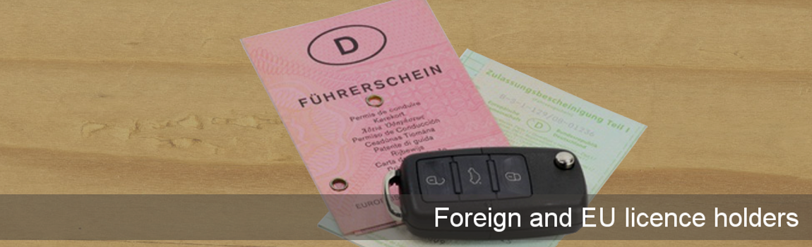 Insurance for foreign and EU licence holders - German licence and car keys